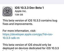 iOS10.3.3刷机_iOS10.3.3测试版刷机教程