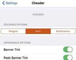 插件Cheader:可为你设备上的通知横幅着色