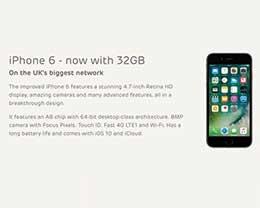 苹果公司今日在英国推出32GB iPhone 6