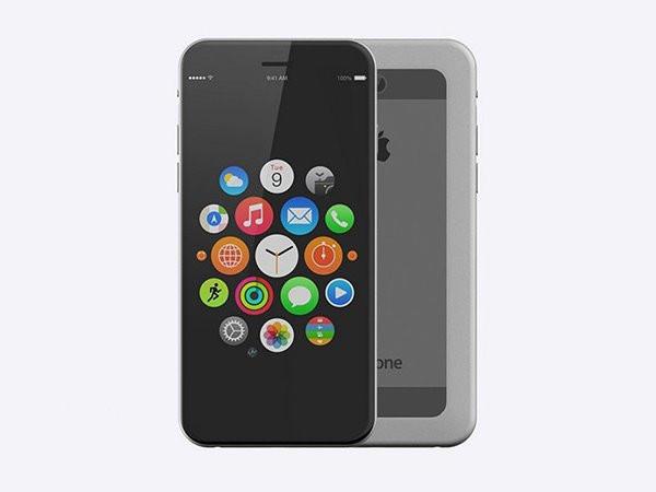 """至于iphone7的外观,该网友赋予了它""""无边框"""""""
