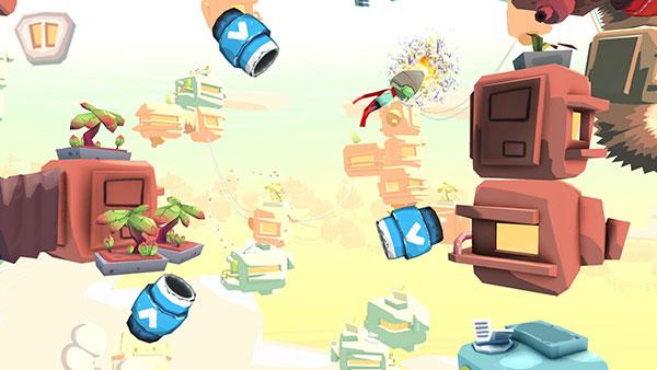 游戏是横版 3d 画面,整体画风可爱绚丽