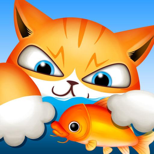 会钓鱼的猫咪