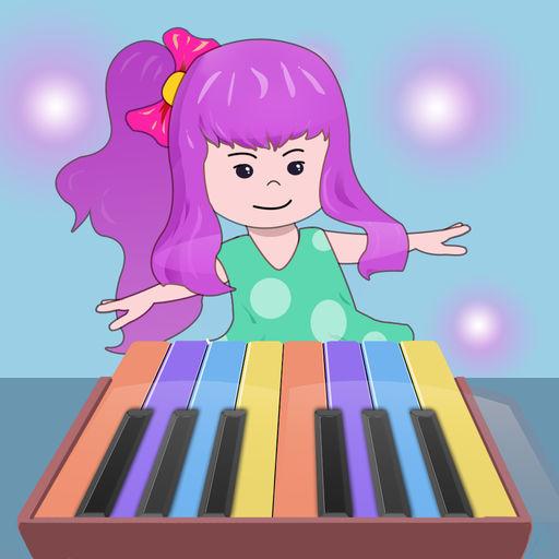 弹钢琴学英文儿歌音乐游戏
