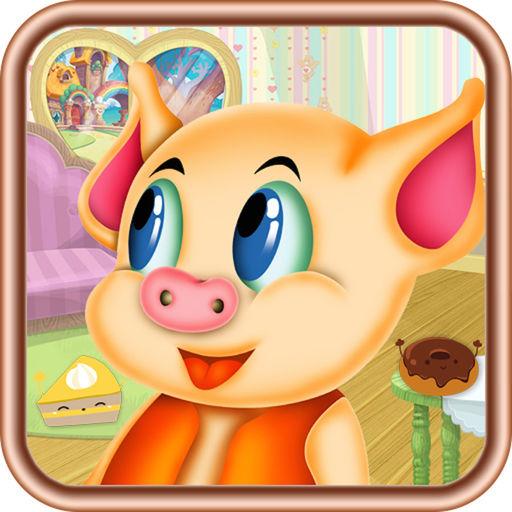猪猪分面包,儿童游戏