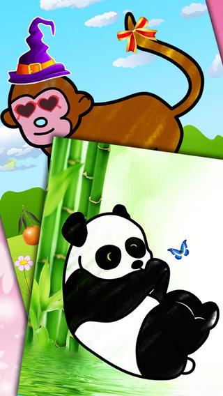 儿童画画填色涂鸦动物